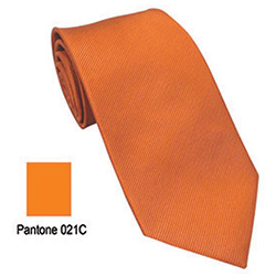Polyester Tie Orange 21C